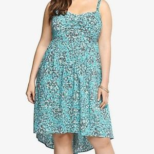 Torrid Floral Hi Lo Tank Dress